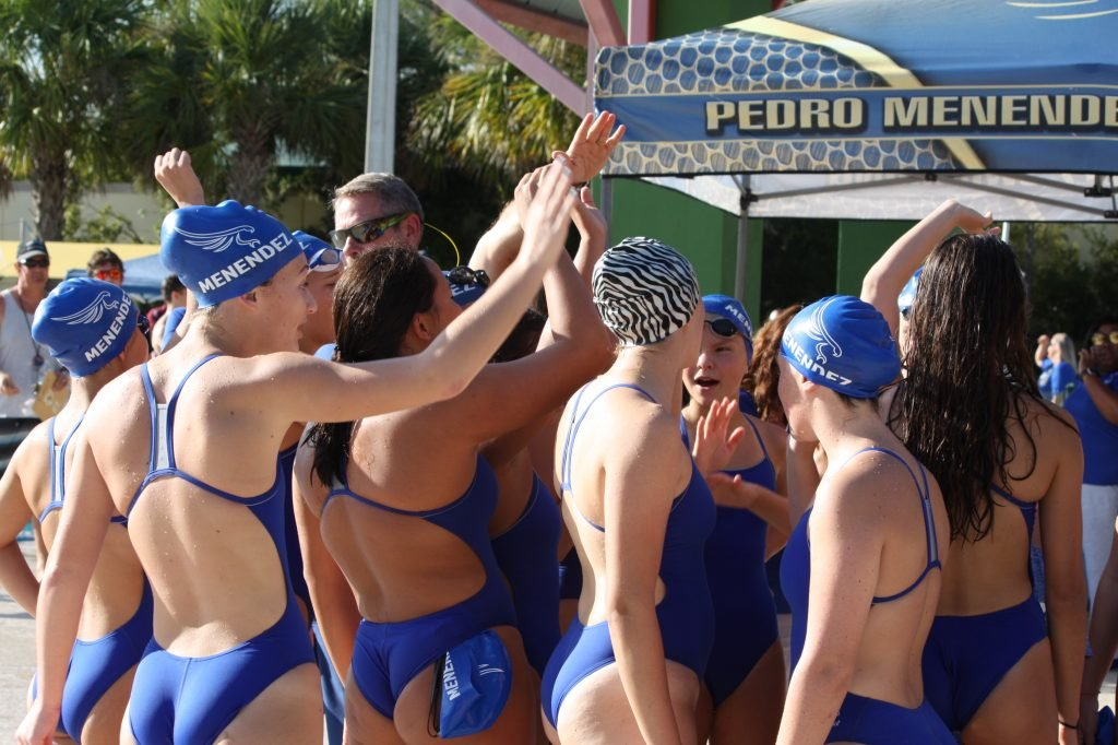 Swim team physical blowjob